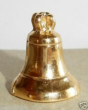 CHARM CLOCHE D'EGLISE FEVE METAL DOREE 3D NEUF