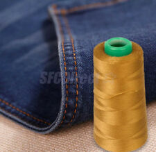 THREAD fit Upholstry Jeans Bag Shoes Button Sewing More-3000yds THICK Polyester.