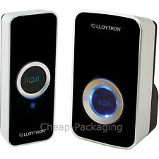 Plug-in Wireless Door Bell Black Lloytron 32 Melody Door Chime (B7505BK)