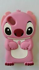 Silicone Cover per cellulari STITCH PINK para WIKO SUNSET 2