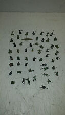 Vintage TINY  Military Plastic Toy Army Men Figures Lot of over 50 !!!