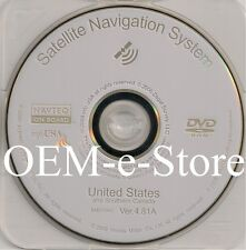 2006 2007 2008 2009 Acura MDX Navigation WHITE DVD Map v4.81A Update U.S Canada