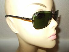 RAY-BAN RB 8302 002/N5 Tech Black Frame Green Lenses Sunglasses ITALY