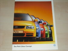 62212) VW Polo 6N Colour Concept Prospekt Mappe 05/1998