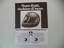 advertising Pubblicità 1977 CASCO AGV HELMET SUPER JOHNNY