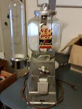 """Vintage 40s? ASCO """"Get Em Hot"""" Peanut 5 Cent Vending Machine W Vortez Cups Disp"""