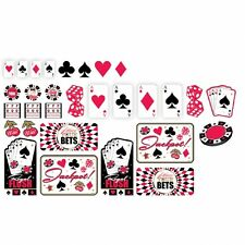 30 Piece Assorted Casino Card Birthday Party Carded Cut Out Decorations