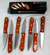 """Kuchen Stolz Precision Crafted Cutlery Steak Knife Set 7 Pieces 8.75""""long #8414"""