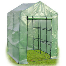 8 Shelves Greenhouse Portable Mini Walk In Outdoor Green House 2 Tier New