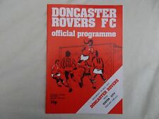Doncaster Rovers v Exeter City     7th May 1977    Division 4