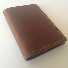 RUSTICO Refillable Pocket Notebooks Leather Journals Diary Gifts Dark Brown