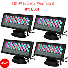 4pcs/lot outdoor 36pcs DMX512 Led Wall Washer Light RGB led light IP65 light