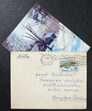 US Airmail Cover Los Angeles Thailand Olympics Stamp 31c USA Lupo Brief (H-7612