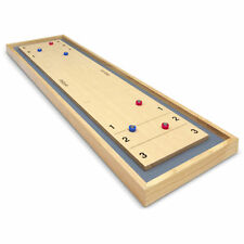 Gosports Shuffleboard And Curling 2 In 1 Table Top Board With 8 Rollers