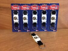 New Orleans Saints NFL Keychain w/ Push Button Quick Release - Made in USA 6pk