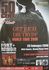 "50 CENT / FORT MINOR ""GET RICH OR DIE TRYIN' TOUR 2006"" THAILAND CONCERT POSTER"