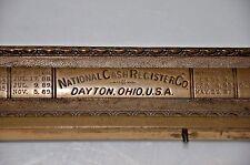 1915 National Cash Register Bronze Face Logo cover wit model number 256684