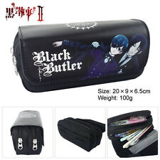 Black Butler Logo Stationery bags Anime Student PencilBag Pouch Cosmetic