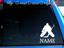 Hockey Goalie Style PERSONALIZE -Vinyl Decal Sticker -Color Choice -HIGH QUALITY