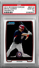 BRYCE HARPER 2012 BOWMAN CHROME BCP10 PSA 10 GEM MINT ROOKIE RC PROSPECT ROY MVP