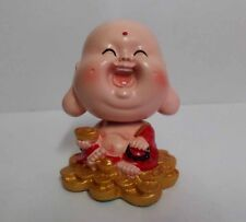 Happy Smile Bobble Head Buddhist Money Big Ear Buddha Figure