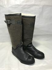 NEW G-Star Womens Fur Lined Leather Wellies High Winter Boots - UK 3 EU 36