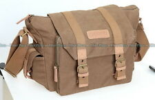 Caden F1 Water-resistance Canvas Shoulder Camera Lens Flash Bag Video Carry Case