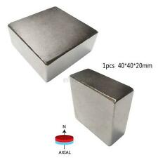 1PCS Super Strong Block 40x40x20mm High Quality Neodymium Rare-Earth Magnets N52