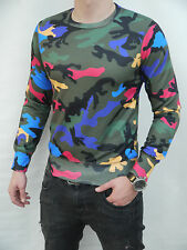 BNWT sweetshirt VALENTINO CAMOUFLAGE MULTI-COLOR Men T-Shirt ANY SIZE TOP MODEL