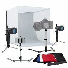 "Photo Studio 16"" Photography Light Tent Kit Backdrop Cube In A Box Mini Stand"