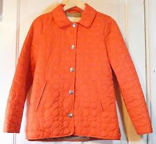 Coach est. 1941 Beautiful Orange Quilted Jacket Size XS