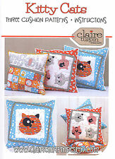 KITTY CATS - Applique Sewing Craft PATTERN - Cushion Shabby Chic