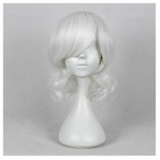 Halloween Cosplay Wigs For Women Medium Length Curly Hair Products White Wig