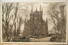 Irish Postcard DOWNPATRICK Cathedral County Down Northern Ireland Sepiatype Val