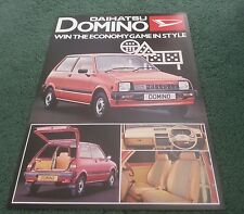 1981 / 1982 DAIHATSU DOMINO 547cc 3 DOOR - UK LEAFLET BROCHURE Price Written On