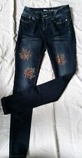 Womens Blue Asphalt Jean with Custom rhinestone design size 5 long #7