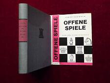 Livre d'échecs, ludék pachman, ouverte jeux, aux échecs théorie, sport verlag rda 1963