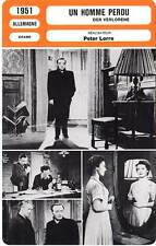 FICHE CINEMA : UN HOMME PERDU - Lorre,John 1951 Der Verlorene/The Lost One