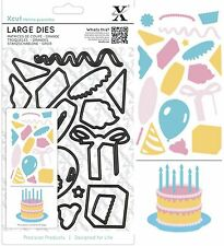 DOCRAFTS XCUT LARGE CUTTING DIE SET BIRTHDAY PARTY CAKE UNIVERSAL FIT - NEW