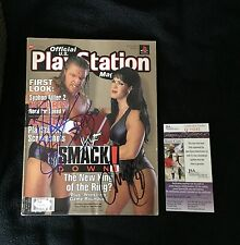 HUNTER HEARST HELMSLEY HHH & CHYNA SIGNED PLAYSTATION MAGAZINE WWE JSA COA