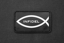 3D PVC Infidel Christian Fish GITD Morale Patch American Patriot 2A ISIS Hunter