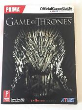 Prima Game Of Thrones Official Game Guide Book Video Gamer XBox 360 PS3 PC GoT