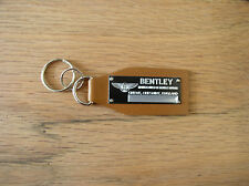 Bentley Data Plate Leather Keychain Arnage Azure Brooklands Continental GT Spur
