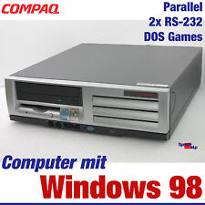 COMPAQ COMPUTER MIT DOS WINDOWS 98 OLD GAMES SPIELE 40GB 2x RS-232 PARALLEL 22