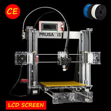3D PRINTER KIT PRUSA I3 DIY ACCURACY ACRYLIC FRAME BUNDLED FREE 2KG FILAMENT
