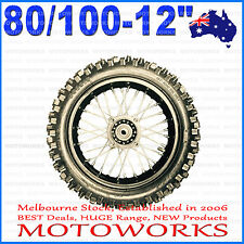 "80/100 - 12"" Inch Rear Back Wheel Rim Tyre Tire Dirt Pit PRO Trail Bike S"