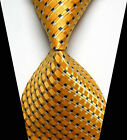 New Classic Blue&Gold Striped Tie WOVEN JACQUARD Silk Men's Suits Ties Necktie