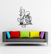 Wall Stickers Allien with Hooka Funny Decor for Living Room  z1292