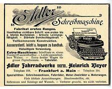 Adlerwerke Frankfurt a. M. Adler Schreibmaschine Historische Reklame von 1903