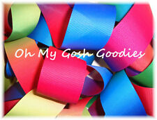 "3"" OMBRE VARIEGATED PRIMARY BRIGHT GORGEOUS GROSGRAIN RIBBON CHEER HAIRBOW BOW"